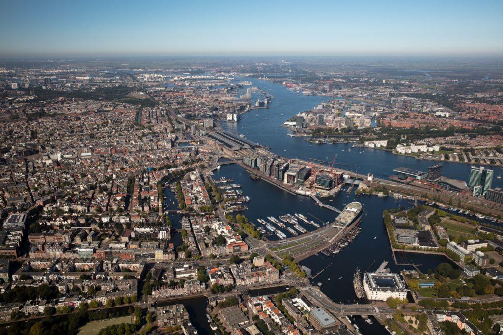 luchtfoto havens van amsterdam